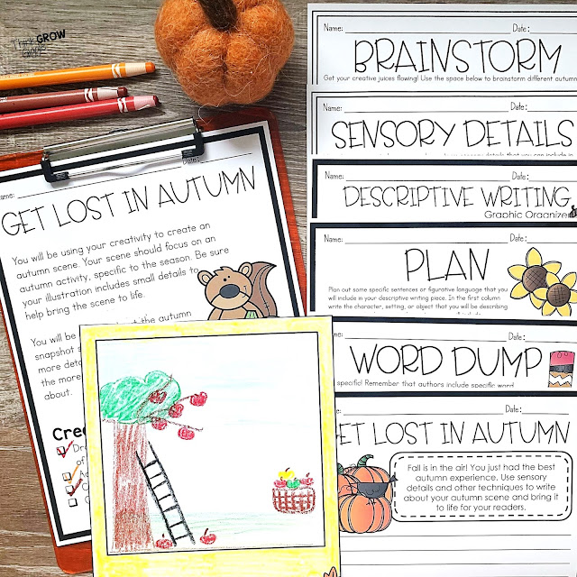 Fall themed activities for upper elementary
