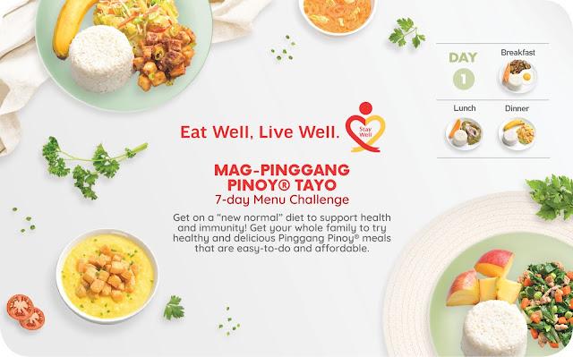Mag-Pinggang Pinoy® Tayo 7-day Menu Challenge