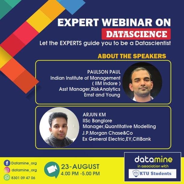 free webinar on data science