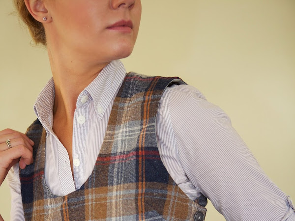 1940's Jerkin from Vintage Plaid Wool