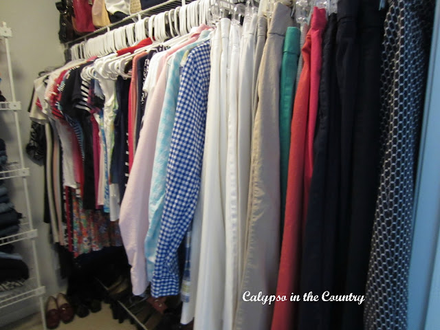 Clothing sorted by color