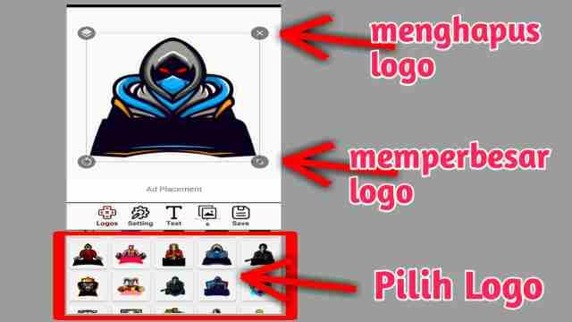 cara membuat logo esport, cara membuat logo guild ff