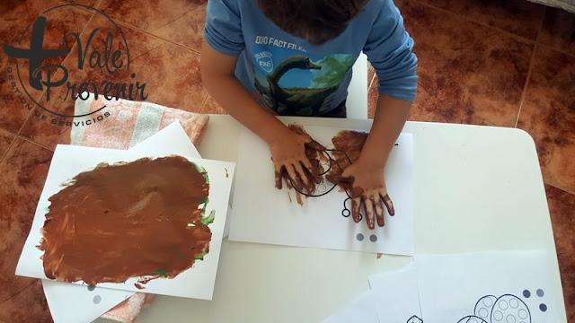 pintar con la manos