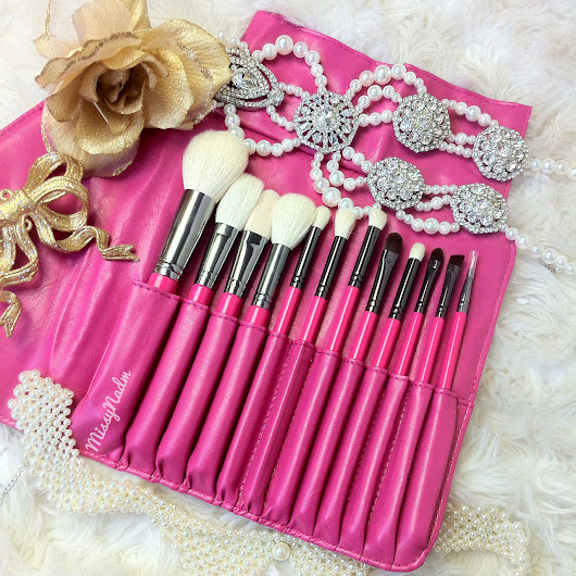 Labelle Makeup Pink Essential Makeup Brush Set