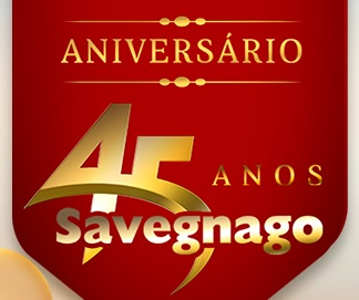 Aniversário 2021 Savegnago Promoção 45 Anos