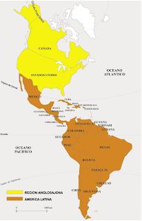 Resultado de imagen para mapa america latina y anglosajona