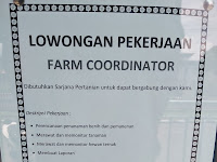 Lowongan Pekerjaan - Farm Coordinator