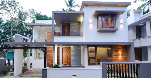 small plot 4 bedroom smart home design with free home plan