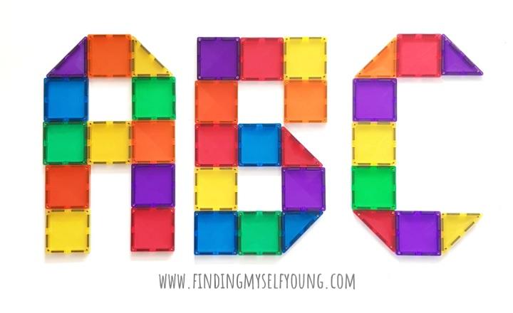 connetix tiles abc letters