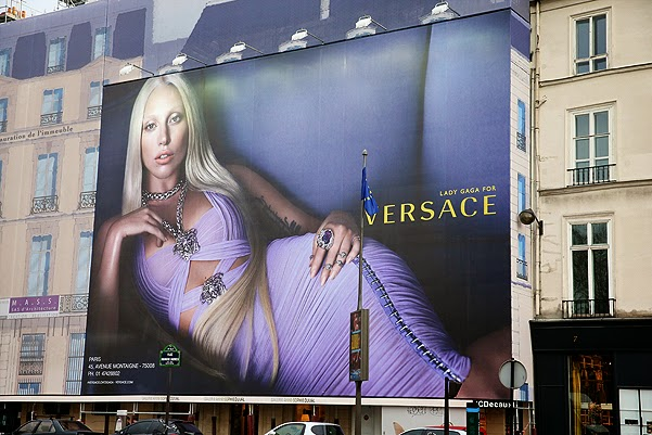 Poster Lady Gaga for Versace in Paris
