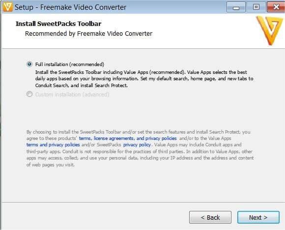 Bundled Software During Installation of Freemake Video Converter