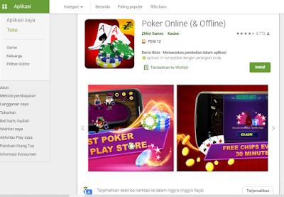 Poker Online Offline Game Terbaik di Play Store