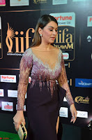 Hansika Motwani in Glittering Deep Neck Transparent Leg Split Purple Gown at IIFA Utsavam Awards 008.JPG