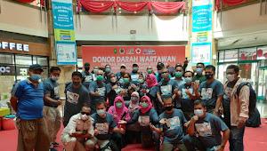 Bhakti Sosial Donor Darah PWI Riau dan Mitra Kembali Lebihi Target