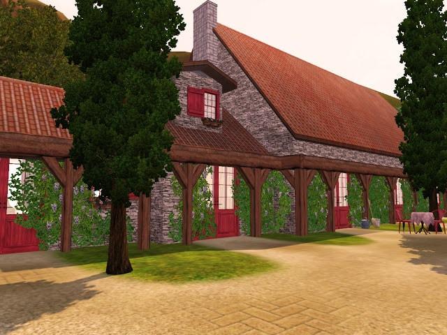 grande maison de campagne Sims 3