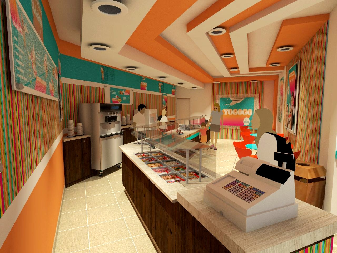 arquitectura martin abel local comercial yogurt yogogo