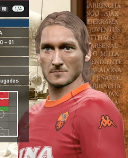PES 2016 Francesco Totti Young Classic Face by NEEST