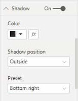 How to bring Shadow Effect Visuals in PowerBI?