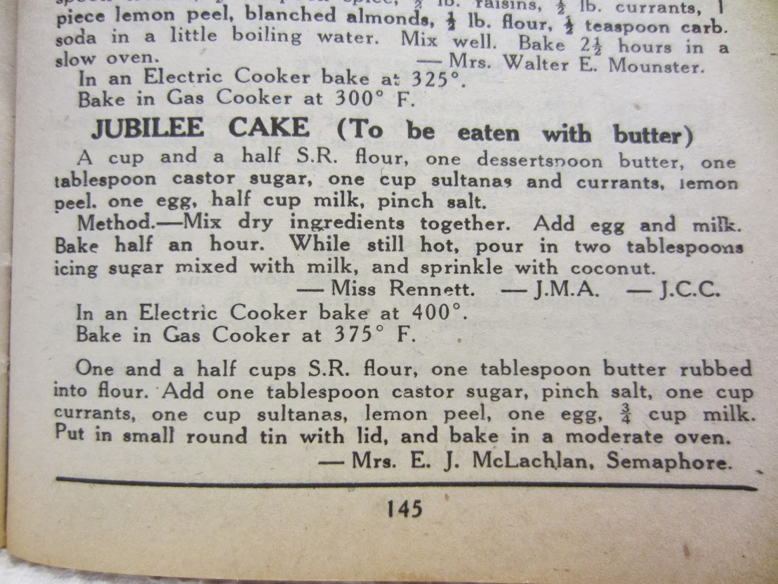 The Jubilee Cake Recipe From Blue Ribbon Cookbook But Recipes Green And Gold Are Quite Similar This Cwa