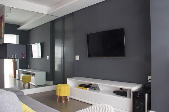decoração-sala-cinza