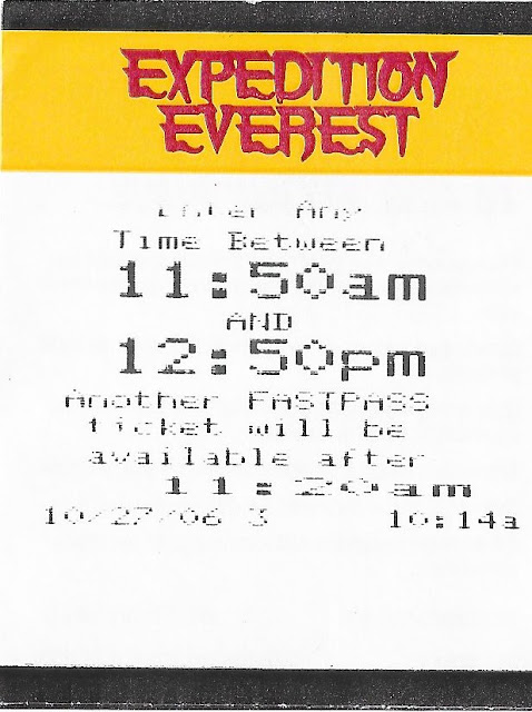 Expedition Everest Disney Animal Kingdom Fastpass 2006