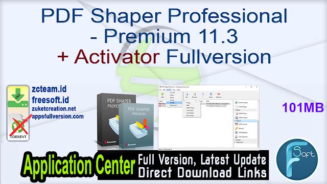 PDF Shaper Professional – Premium 11.3 + Activator Fullversion