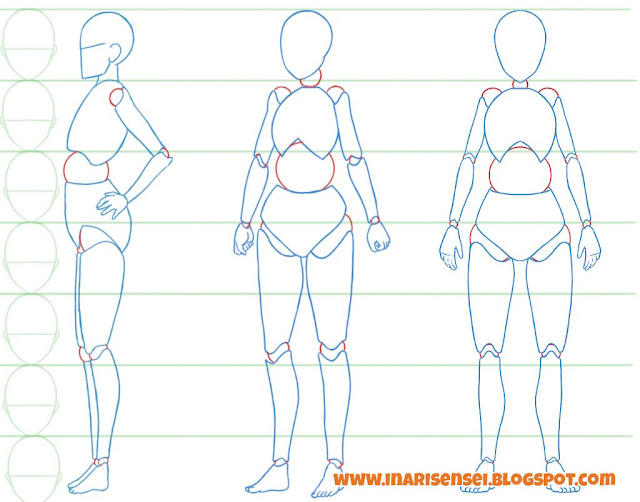 Dessiner un corps manga: les articulations du corps