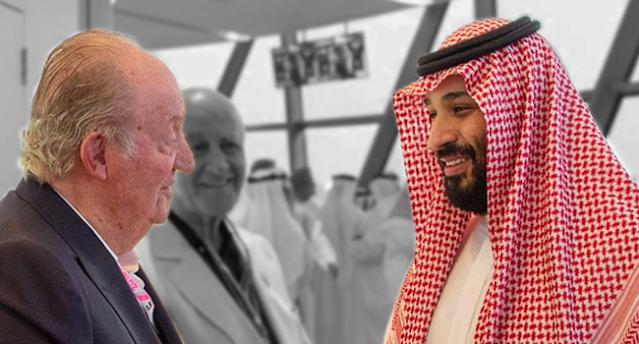 Juan Carlos I y Mohamed ben Salman