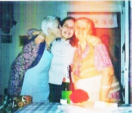 With Mama and Gizimama in Bod, Romania