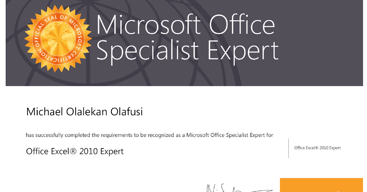 Passed Mos 77 888 Excel 2010 Expert Exam On My Way To Becoming An
