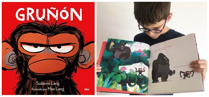 Libro infantil gestionar rabietas: gruñón de Suzanne Lang