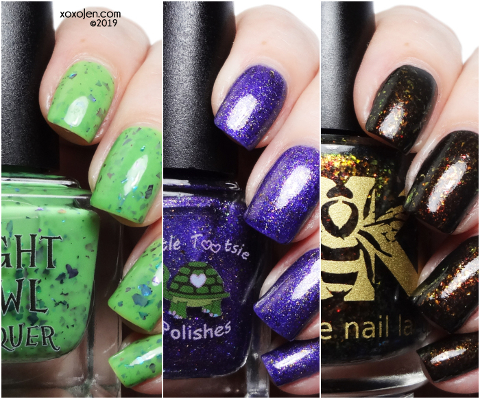 xoxoJen's swatch of Fandom Flakies: Tim Burton themed box