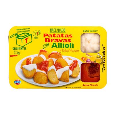 Patatas bravas con allioli y salsa picante Hacendado
