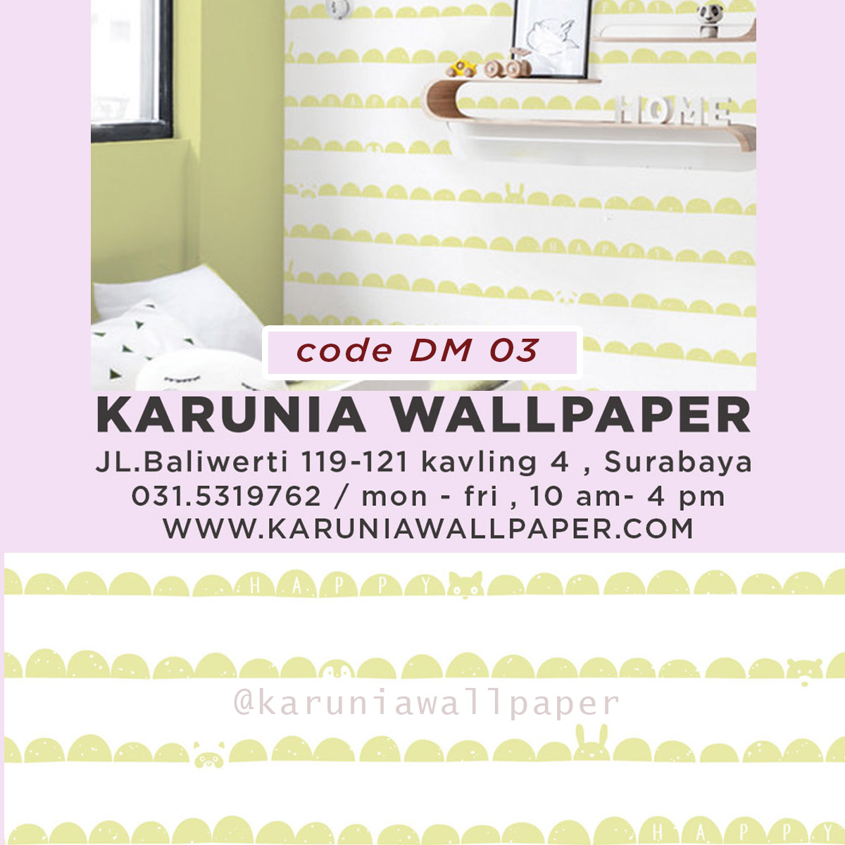 jual wallpaper dinding warna hijau