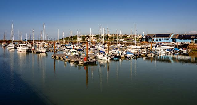 Photo of Maryport Marina on a beautiful sunny day