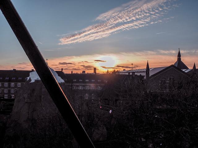 Tivoli, Copenhagen in February - sunset views