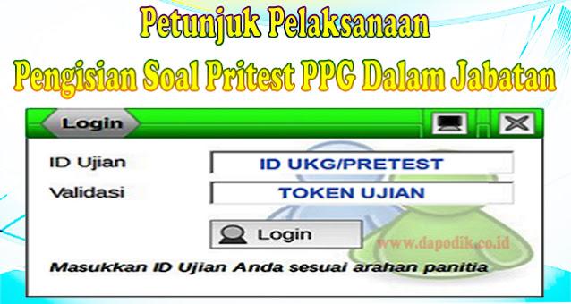 Pritest PPG Dalam Jabatan