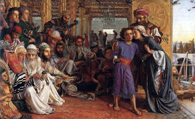 Finding the Savior in the Temple - Holman Hunt (1860)