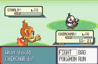 Pokemon Sinnoh Quest para GBA Batalla Combate Pokemon