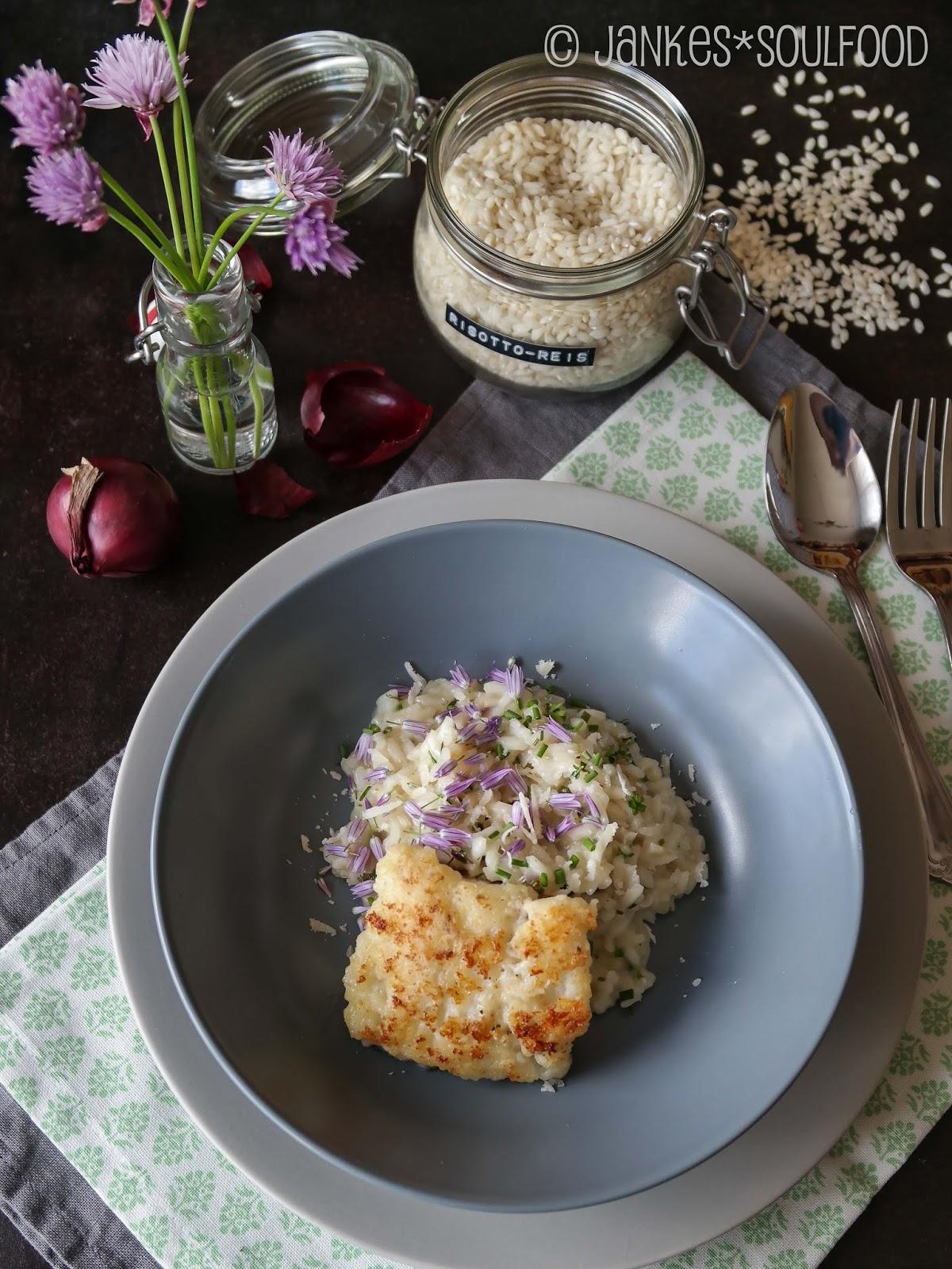 Kräuter-Risotto mit Fisch