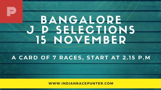 Bangalore Jackpot Selections 15 November