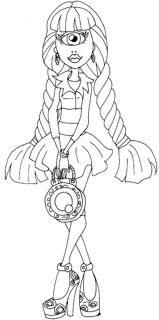 Free Printable Monster High Coloring Pages: Iris Clops