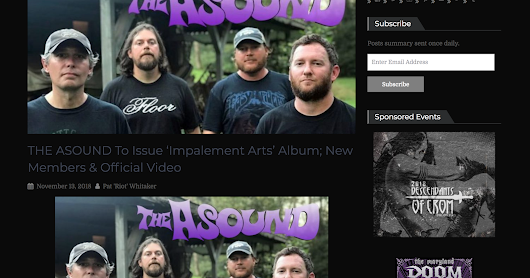 The Asound Featured On Riff Relevant