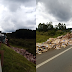 Acidente de trânsito em Santa Cecília na BR 116, caminhão com carregamento de reciclados tomba