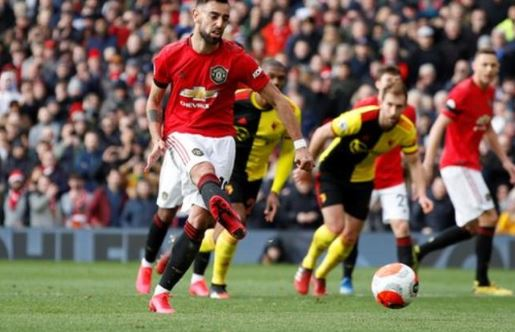 EPL: Bruno Fernandes scores as Man United defeat Watford