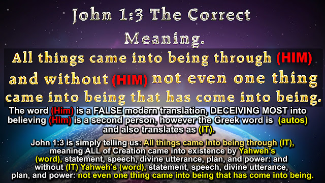 John 1:3 The Correct Meaning.