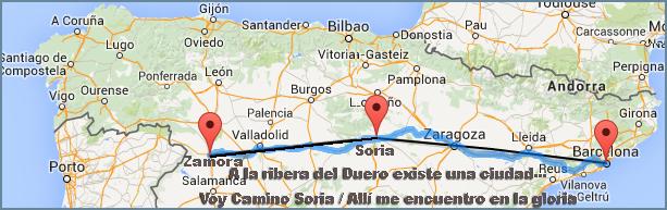 Destino Zamora camino Soria