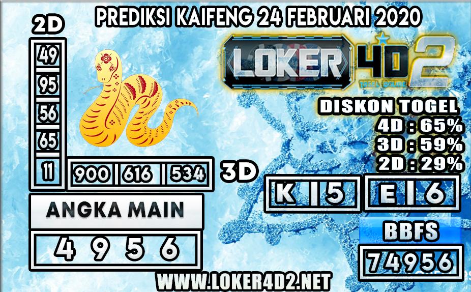 PREDIKSI TOGEL KAIFENG LOKER4D2 24 FEBRUARI 2020