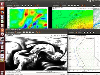 Exemples de cartes et diagrammes proposés par MB Weather Maps