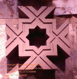 Roster Masjid motif bintang segi delapan Bintang Kejora